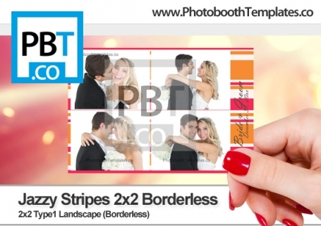 Jazzy Stripes 2x2 Borderless