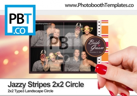 Jazzy Stripes 2x2 Circle