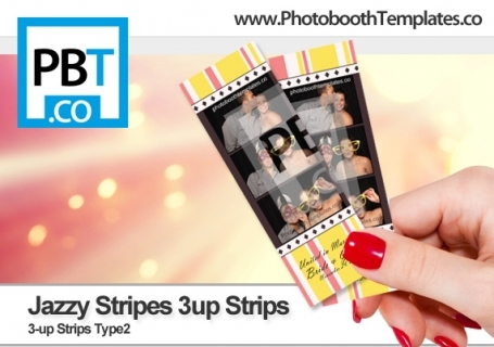 Jazzy Stripes 3up Strips