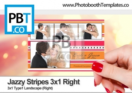 Jazzy Stripes 3x1 Right