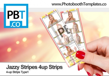 Jazzy Stripes 4up Strips