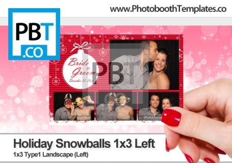 Holiday Snowballs 1x3 Left