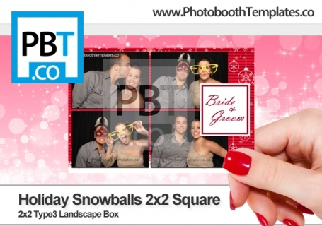 Holiday Snowballs 2x2 Square