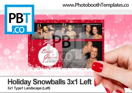 Holiday Snowballs 3x1 Left