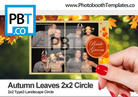 Autumn Leaves 2x2 Circle