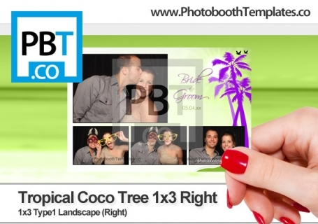 Tropical Coco Tree 1x3 Right
