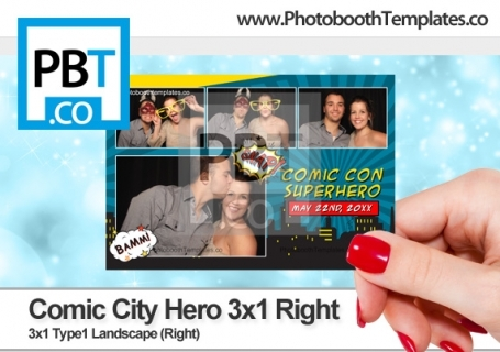 Comic City Hero 3x1 Right