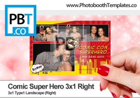 Comic Super Hero 3x1 Right