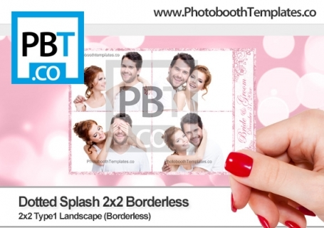 Floral Splash 2x2 Borderless