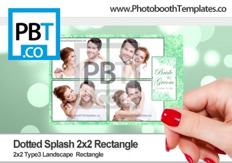 Dotted Splash 2x2 Rectangle