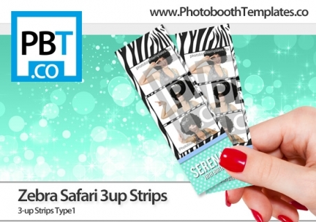 Zebra Safari 3up Strips